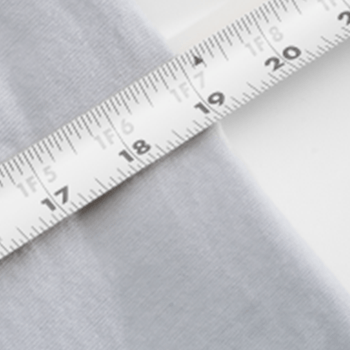 shirt with measuring tape